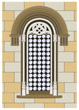 готское окно reanaissance Стоковые Фото
