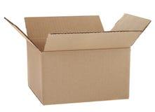 гофрированная коробка Стоковое Изображение