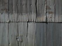 Гофрированная стена металла стоковые фотографии rf