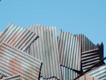 гофрированное небо стоковое фото
