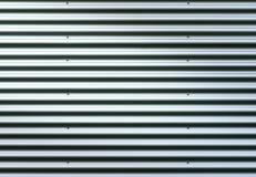 гофрированный лист металла Картина предпосылки серебряного серого цвета с сияющим отражением Стоковое Изображение