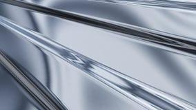 гофрированный лист светлого металла отражая Стоковая Фотография