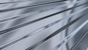 гофрированный лист светлого металла отражая иллюстрация вектора