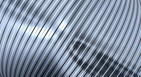 гофрированный лист светлого металла отражая Стоковое Изображение
