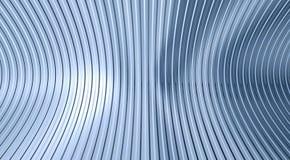 гофрированный лист светлого металла отражая Стоковая Фотография RF