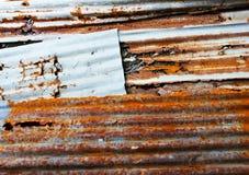 гофрированный предпосылкой утюг загородки старый Стоковые Изображения RF