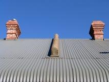 гофрированный цинк крыши Стоковая Фотография RF