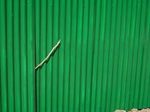 гофрировано ограждающ зеленый цвет Стоковые Фотографии RF