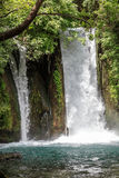 Голанские высоты Заповедник Banias Водопад Banias Стоковые Изображения RF