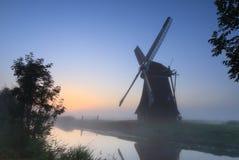 Голландия перед восходом солнца Стоковое Изображение