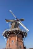 Голландская ветрянка Zeldenrust в Dokkum Стоковые Фото