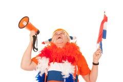 голландская сторонница футбола Стоковое Изображение