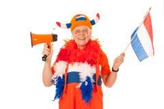 голландская сторонница футбола Стоковое фото RF