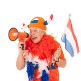 голландская сторонница футбола Стоковая Фотография
