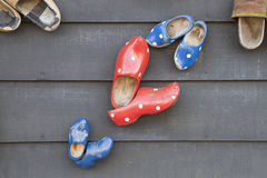 голландские ботинки деревянные стоковая фотография