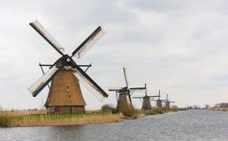 Голландские ветрянки Стоковое Фото