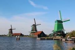 голландские ветрянки Стоковое фото RF