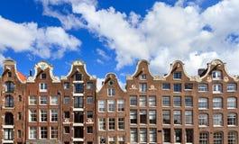 Голландские дома канала Стоковая Фотография