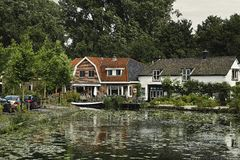 голландские дома Стоковые Фотографии RF