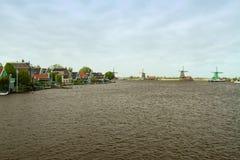 голландские традиционные ветрянки Стоковое фото RF