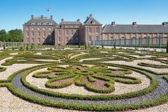 Голландский барочный сад дворца уборной в Апелдорне Стоковое Фото
