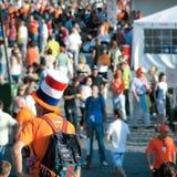 Голландский вентилятор в стильной шляпе Стоковое Фото