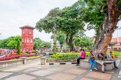 Голландский квадрат в историческом центре Малаккы, Малайзии Стоковое фото RF