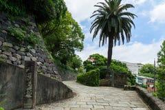 Голландский наклон (Oranda-zaka) в Нагасаки, Японию Стоковые Фото