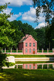 Голландский дом кирпича в парке Kuskovo стоковая фотография rf