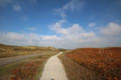 Голландский пейзаж от верхней части природы холма во время осени стоковая фотография