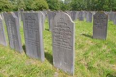 Голландск-еврейское кладбище в Diemen Нидерландах Стоковое Фото