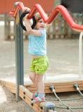 3 года девушки на спортивной площадке Стоковая Фотография