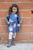 4 года девушки одетой как бездомные как Стоковые Изображения RF