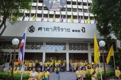 Год БАНГКОКА THAILAND-JUNE 09,2016-семидесятый в царствовании короля Таиланда Стоковые Фото