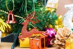 год близких украшений рождества новый поднимающий вверх стоковое изображение