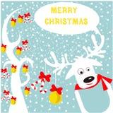 год вала ster снежинок неба голубой иллюстрации ели волочения в холодном состоянии рождества веселый новый Стоковое Изображение RF