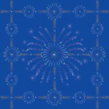 год голубого темного феиэрверка новый безшовный Стоковые Фотографии RF