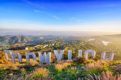 Голливуд подписывает внутри Калифорнию Стоковые Фотографии RF