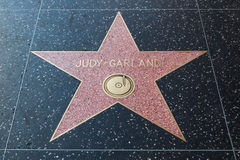 Голливудская звезда гирлянды Джуди Стоковое Изображение RF