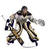 Голкипер хоккея на льде Стоковое Изображение