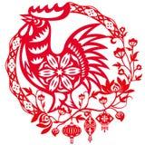 Год китайской иллюстрации петуха иллюстрация вектора