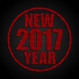 Год красных Sequins новый 2017 звезда круг Стоковые Фото