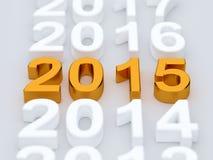2015 год на белой предпосылке бесплатная иллюстрация