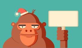 Год обезьяны 2016 Новый Год также вектор иллюстрации притяжки corel Стоковое Изображение