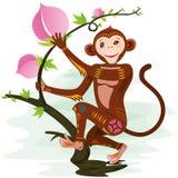 Год обезьяны иллюстрация вектора