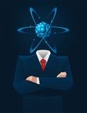 Голова атома Стоковое Изображение