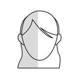 голова безликого изображения значка женщины Стоковая Фотография RF