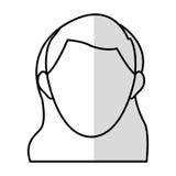 голова безликого изображения значка женщины Стоковые Изображения RF