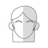 голова безликого изображения значка женщины Стоковые Фото