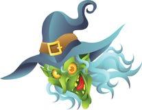 Голова ведьмы хеллоуина Стоковая Фотография